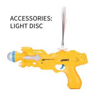 Wholesale space flash resale online - 2020 hot sale Children s LED toy guns flash music with light CD space guns plastic hands grab men s and women s toy guns