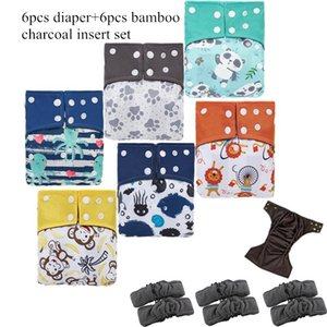 Wholesale bamboo waterproof diapers for sale - Group buy simfamily Reusable Bamboo Charcoal Cloth Diaper Waterproof One Size Pocket Diaper Double Gussets Charcoal Nappy