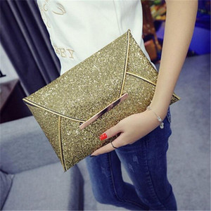 Wholesale party envelope purse for sale - Group buy Women s Envelope Clutch Bag Personality PU Leather Glitter Purse Money Phone Storage Wallet Party Evening Messenger Bag