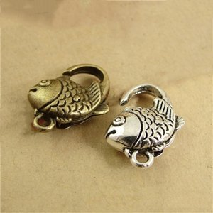 Wholesale fish hook jewelry clasp for sale - Group buy 10pcs x1m Fish Shape for Key Ring Nelace Chain Retro Lobster Clasp Hook Diy Jewelry Findings