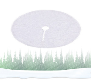 Wholesale trees skirt resale online - Christmas Plush Tree Dress Plush Ourwarm Pure Inch White Christmas Tree Skirt Faux Fur Carpet for New Year Home Decorations EEA2144
