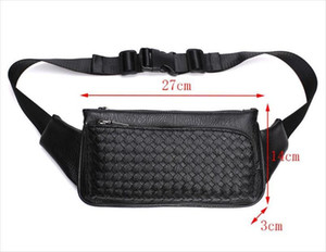 Wholesale mens designer travel bags for sale - Group buy Fashion Bag Weave Waist Waterpoor New Bags Waist Pack Business Casual Male Men Travel Leather Shoulder Bags Bag Chest Mens Pu Klvfs