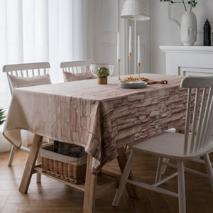 Wholesale sofa tables resale online - Nordic style polyester waterproof and oil proof brick pattern tablecloth table cloth sofa towel two cm pillowcases