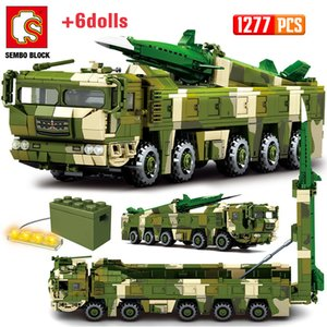 Wholesale toy army figures resale online - SEMBO WW2 Missile Trucks Vehicle Model Building Blocks City Military Battle Army Car Soldier Figures Bricks Toys For Children X0102