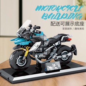Wholesale kit motorbikes resale online - Technic City Motorcycle Bricks Creator Racing Motorbike Model Building Blocks Kit Kids Boy Toys Eucational Gifts