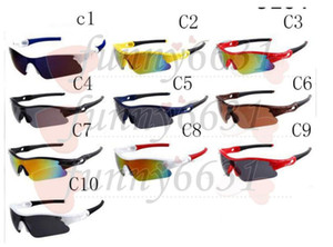 Wholesale sunglasses only for sale - Group buy summer newest style man Bicycle Glass Only glasses colors sunglasses windproof sunglasses Dazzle colour glasses free ship