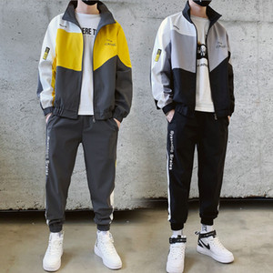 New Fall Spring Men's Cardigan Jacket+Pants Fashion Casual Sportswear Mens Tracksuits Sport Hoodies Suits Free Shipping