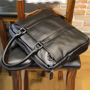 ingrosso uomini brevi casi-Uomini Brief Cases Borsa in PU Business Business Business Black cm cm cm1
