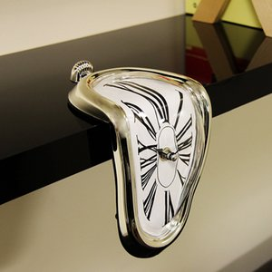 2019 New Novel Surreal Melting Distorted Wall Clocks Surrealist Salvador Dali Style Wall Watch Decoration Gift Home Garden 1008