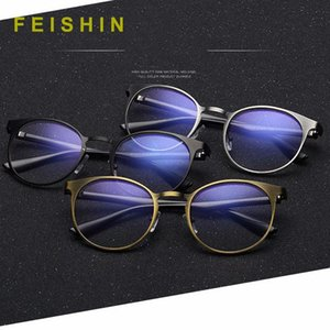 Wholesale blue light filter resale online - Feishini High Quality Anti Blue Light Glasses Student Filter Reduces Computer Eyewear Women Oval Blocking Rays Radiation