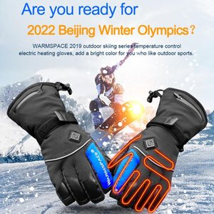 Wholesale ski winter thermal gloves for sale - Group buy 1 Pair Winter Hand Warmer Electric Thermal Gloves Waterproof Heated Gloves Battery Powered For Motorcycle Ski Unisex