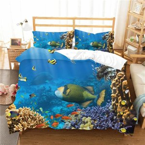 Wholesale animal bedding sets for adults for sale - Group buy A Bedding Set D Printed Duvet Cover Bed Set Underwater World Home Textiles for Adults Bedclothes with Pillowcase HDSJ051