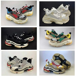 Wholesale kids shoe s resale online - 2019 Kids Triple S Sneakers for Boyshot sla e Designer Shoes Girls Platform Child Sports Children Chaussures Teenage Thick Soled Youth