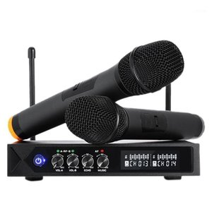 Wholesale ktv tv resale online - Ktv Wireless Microphone One for Two with Reverb Tuning Karaoke Bluetooth Home TV Wireless Karaoke Microphone EU Plug