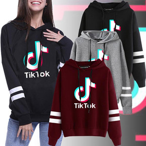 Wholesale sweater girls for sale - Group buy Tiktok Sweatshirt For Women Girl Clothes Tik Tok Fall Winter Hooded Letter Hoodies Sport Sweater Clothing Size S XL