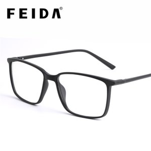 Wholesale clear frames glasses for sale - Group buy FEIDA Square Computer Glasses Anti Blue Light Blocking Glasses Clear Eye Glass Frames for Men Retro Men s Anti Blue Ray Glasses T200428