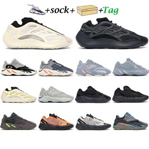 Wholesale buying sports shoes resale online - New kanye men women running shoes trainers Safflower Azael Alvah Inertia Solid Grey Vanta blue outdoor a great buy sports gift sneaker
