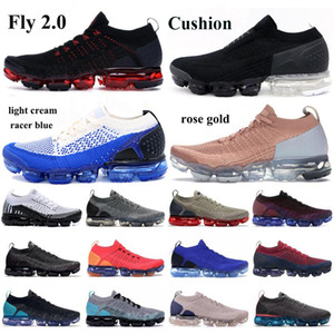 Wholesale black shoes resale online - New Fly Running Shoes Triple Black Multi Color CNY Pure Platinu White Dusty Cactus midnight navy Men Women Sneakers Tag