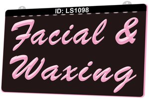 Wholesale facial wax for sale - Group buy LS1098 Facial Waxing Beauty Salon D Engraving LED Light Sign Colors Retail Free Design
