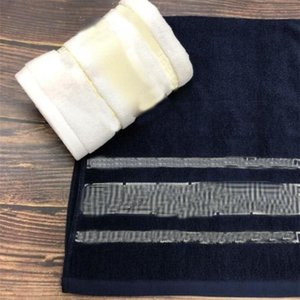 Classic Thicken Unisex Towel Vintage Embroidery Men Women Cotton Towels 2 Colors Quick Dry Lover Face Towels