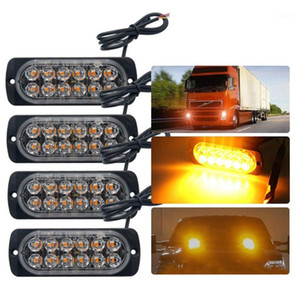 Wholesale amber led bar lights for sale - Group buy Emergency Strobe Lights For Trucks Amber Recovery Car Led Lighting Bar Orange Grill Breakdown Flashing V Amber Led1