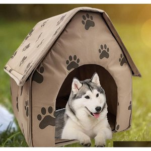 Wholesale travel accessories resale online - Hot Sale Dog House Delicate Design Foldable Dog House Small Footprint Pet Bed Tent Cat Kennel Travel Dog Accessory Pq4Sb