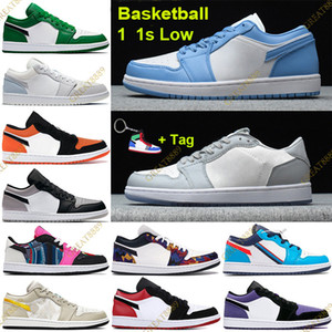 Wholesale basketball shoes net resale online - Low s Jumpman Paris Basketball Shoes grey black sail UNC pine green Trainers with Tag nothing but net washed denim shadow Sneakers
