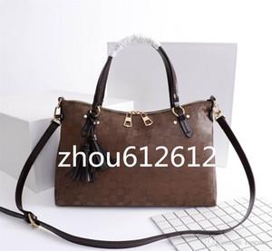 New oversizebags handbags Shoulder Bag N40022 Damier Azur Lymington Zipper Handbag leather Handles Tassels Trim 35*24*14CM Clutches Evening