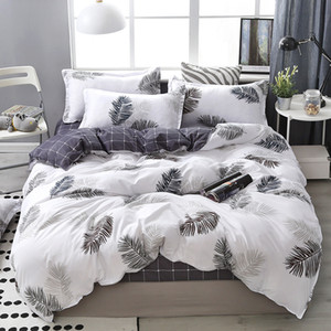 Wholesale silver king size comforter set resale online - Lanke Cotton Bedding Sets Home Textile Twin King Queen Size Bed Set Bedclothes with Bed Sheet Comforter set Pillow case LJ201223