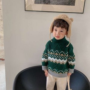 Wholesale baby's cloth resale online - winter Aokids girls boys thickened and children s Christmas Pullover sweater baby s new year cloth fashion KLNF