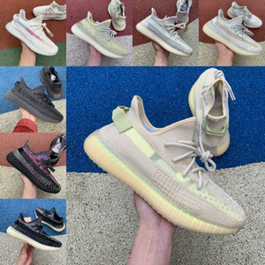 Selling 2019 V2 GID Glow Shoes With Box Yeshaya Earth Taillight Desert Sage Cinder Yecheil Designer Sneakers Color matching running shoes