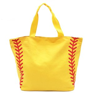 Wholesale box type handbags for sale - Group buy Foldable Shopping Bag Printed Portable Handbags Baseball Tote Softball Basketball Football Volleyball Canvas Bags Style GGB2241