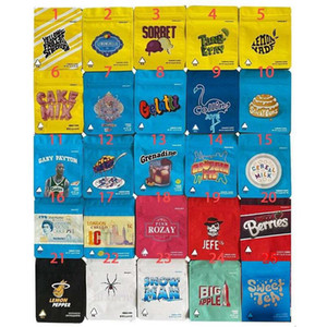 Wholesale sweet packs for sale - Group buy In Stock g Packing Bags Mylar Types Cookies California Balla Berries Sweet Tea Stickybuns Lemon Pepper JEEF Sorbet Cereal Milk Bag
