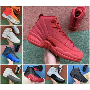 Wholesale retro 12 ovo white gold resale online - Top OVO White University Gold Black Basketball Shoes s Flu Game Royal Jumpman Taxi Retroes Indigo Playoff Winterized Designer Sneakers