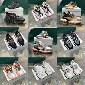 Wholesale black high top platform sneakers for sale - Group buy 5a Monclair High Quality Italian Mens Hi Top Sneakers Italy Triple s leather Canvas Platform Trainers Black White Casual Flat Laces Shoes