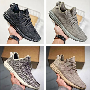 ingrosso oxfords scarpe donna-Kanye West V1 Uomo Donne scarpe da corsa Pirate Black Turtle Dove Oxford Tan Tan Moonrock Sport Sneaker Size US5 US13 con la versione PK Box