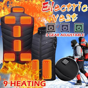 Unisex Heated Vest Heat Coat Usb Electric Thermal Clothing Coat Infrared Heating Hooded Jackets Winter Outdoor Warm Clothing#YL5