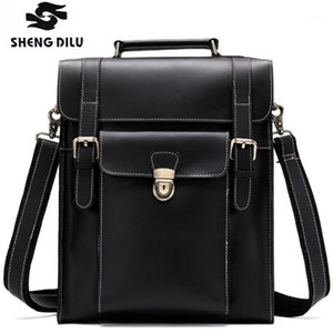 Wholesale men leather schoolbag for sale - Group buy NEW Leather Casual Backpack Genuine Backpacks Student Tetro Male Quality1 Laptop Man Vintage Men High Schoolbag Wtbmu