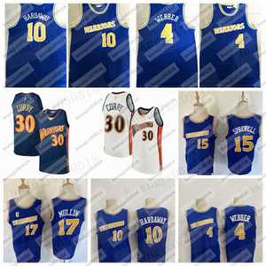 mullin chris al por mayor-Hombres Stephen Curry Tim Haraway Chris Webber Mullin Latrell Sprewell Golden