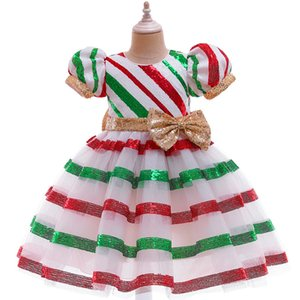 Wholesale special baby clothing resale online - Christmas new girls long skirt lace dress big kids evening dress Flower Print Children Toddler Baby Frocks Kids Clothes Baby Products