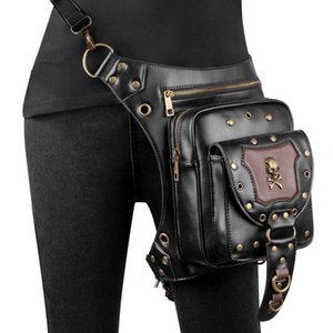 Wholesale thigh holsters for sale - Group buy Steampunk Waist Leg Bags Motorcycle Leather Women Men Victorian Style Holster Bag Thigh Hip Belt Packs Messenger Shoulder Bags