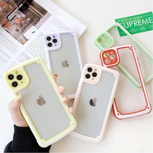 Wholesale mints candies resale online - DHL Candy color frame is suitable For iPhone11 pro max mobile phone case transparent case iPhone pro max case