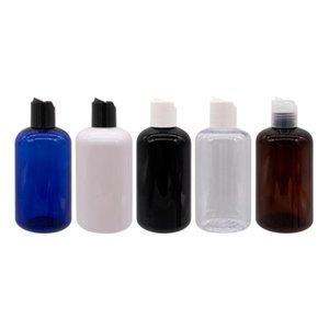 Wholesale blue shampoos for sale - Group buy 250ml x Empty Plastic Bottle With Disc Top Cap cc Shampoo Cosmetic Refillable Cosmetic Container Press Lid Blue Black