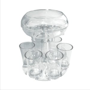 Wholesale plastic shoots resale online - Acrylic Dispenser Holder Plastic Wine Dispenser With Cups Wine Rack Cooler Beer Beverage Dispensers Shot Bar Tools sea shipping GWA3410