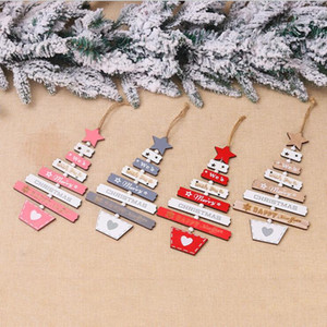 Wholesale tree gifts for sale - Group buy Xmas Elk Wood Craft Christmas Tree Ornament Christmas Decorations Natural Wood Hanging Pendants xmas Tree Pendant gift YYA498