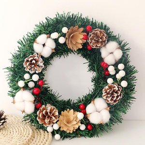 Wholesale home decor resale online - 30 cm Wall Hanging Christmas Wreath Decoration For Xmas Party Door Wall Garland Ornament Home Decor Holiday Accessories F9