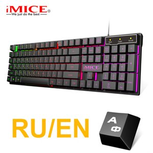 Wholesale keys board for sale - Group buy Gaming Keyboard Wired Imitation Mechanical Keyboard Gaming USB Keycaps Russian Gamer Keyboard With Backlight RGB Key Board LJ200922