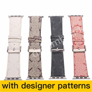 Wholesale watches band leather resale online - G Watchbands for Apple Watch Band mm mm mm mm iwatch bands Leather Strap Bracelet Fashion Stripes drop shipping
