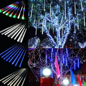 Wholesale outdoor christmas decorations for sale - Group buy 30cm lamps set Christmas Decorations Lights Meteor Shower Lamp Set LED Light Bar Decorative Light Outdoor Waterproof Tube Colored Light