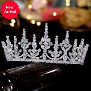 Wholesale kinds crown resale online - ASNORA luxury trendy headband bride hair accessories tiaras and crowns crown wedding or kinder tiara